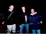L-R, unknown, Doug Robertson & Ted Shogren. Fishing in Sweden 2006